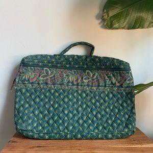 Vintage Vera Bradley Green Floral Computer Bag